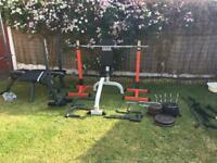 Assorted gym equipment