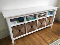 IKEA Hemnes console table with baskets