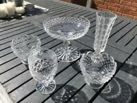 Assortment of glass tableware