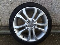 "Genuine Audi S3 18"" alloy wheels with Michelin tyres."