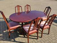 REDUCED - Mahogany Parker Knoll Dining Table with 6 chairs