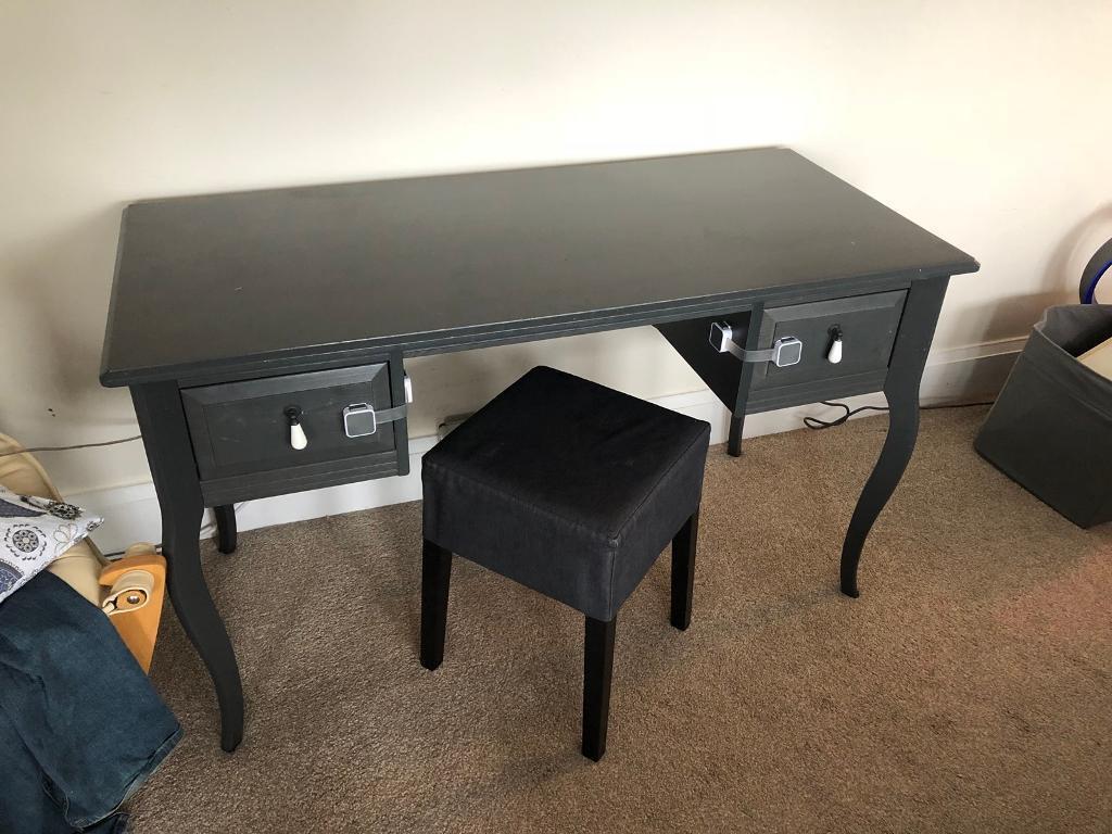 Ikea Edland Dressing Table And Matching Stool Grey