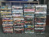 130+ mixed genre DVD collection bulk job lot