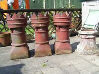 4 garden chimney pots over 120 yrs old