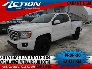 2015 GMC CANYON 4WD EXTENDED CAB SLE AUTO,AIR,4 CYL,BLUETOOTH