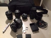 Canon 750d Plus 4 lenses and lots of accessories