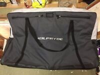 Neil Pryde bike bag with wheels, for travel, air freight etc. Includes wheel bags