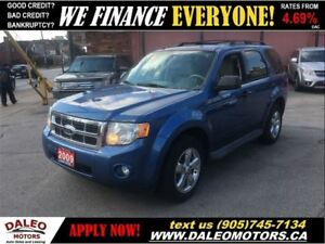 2009 Ford Escape XLT 3.0L V6 | 4X4 | ONLY 117KM | LEATHER | SUNR