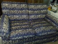 MOST BEAUTIFUL 2 SEATER SOFA - VERY STYLISH BLUE - MADE IN ITALY - AS NEW - REAL BARGAIN AT £850 -