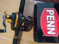 Penn regiment II Rod with Penn multiplier reel