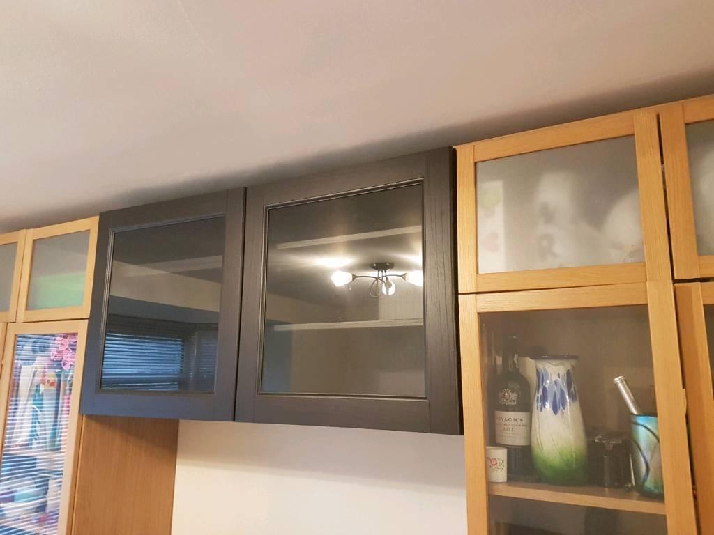 Ikea Besta Wall Shelf Unit Glass Doors In Cambridge