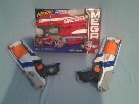 Three nerf blasters
