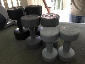 Set of pro fitness weights