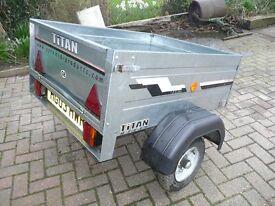 Titan Car trailer - M7030 - with drop down rear gate