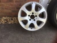 Mercedes clk wheels x4 one with a tyre. As seen on pictures in fair condition.
