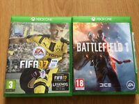Battlefield 1 and FIFA 17 Xbox one Games