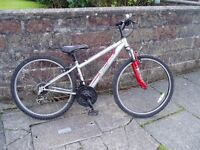 "Mountain Bike, 14"" Frame, 26"" Alloy Wheels,Front suspension, FULLY SERVICED."