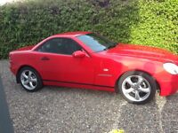 Mercedes SLK 230 convertible in red for sale