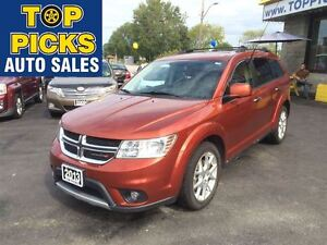 2013 Dodge Journey RT AWD, LEATHER, SUNROOF, NAVIGATION!