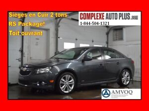 2013 Chevrolet Cruze LT RS Turbo LTZ *Toit,Cuir 2 tons