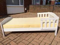 Mother care toddler/kids bed with foam mattress