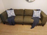 IKEA Nockeby three seater sofa- custom covers