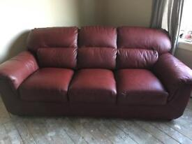 3 seater couch and two single chairs