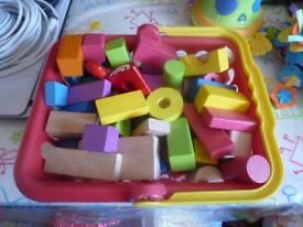Early Learning Centre Wood Building Blocks