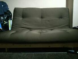 Double Brown Futon / Sofa bed