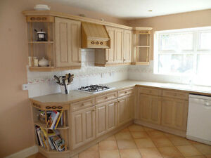 Complete Limed Oak Kitchen Units Worktops And Appliances For Sale