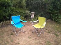 Two fordable garden/fishing chairs