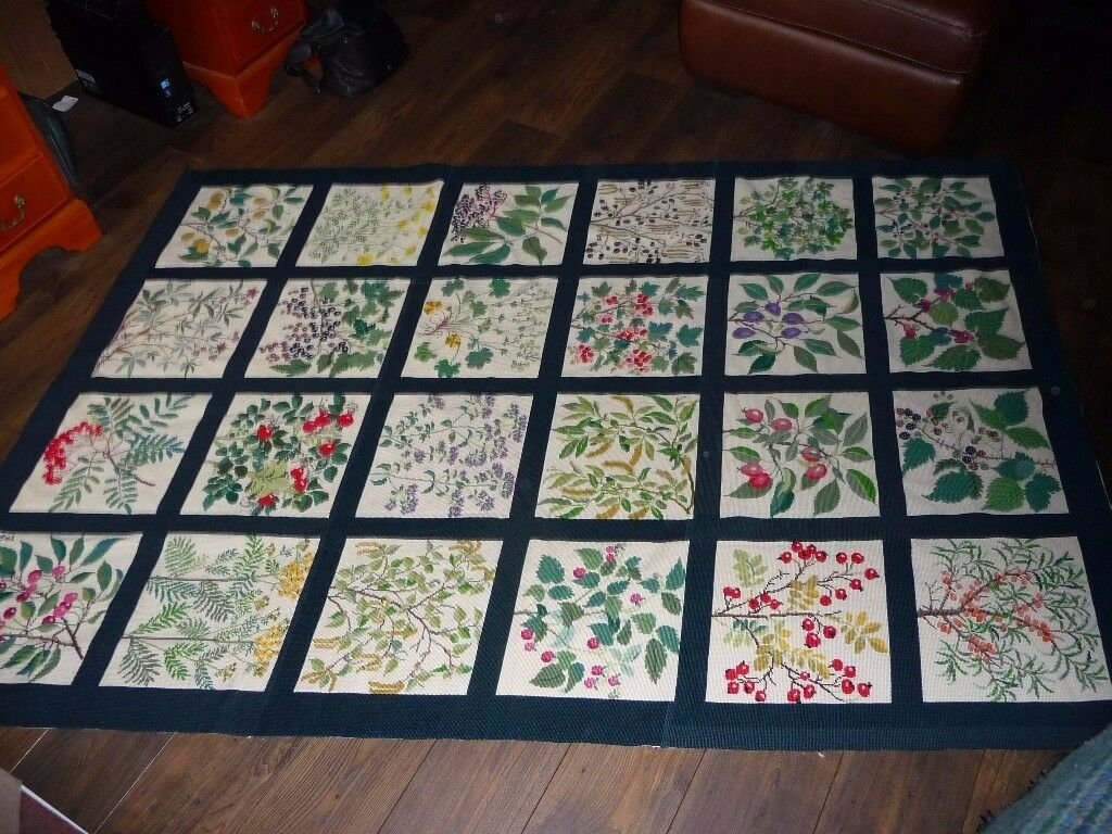 Hand Stitched Wool Tapestry Rug