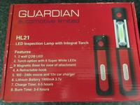 Inspection lamp with torch. As new in box.