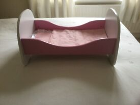 Wooden Dolls Bed