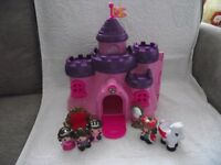 Child's Toy Fairy Castle with figures