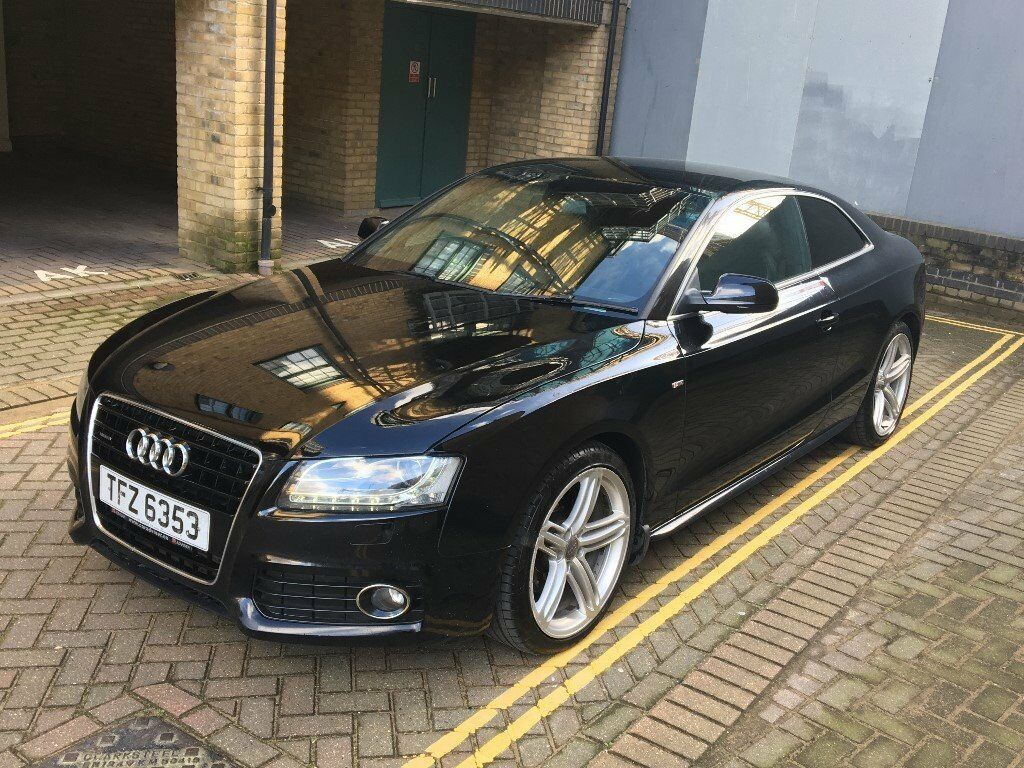 Audi A Quattro SLine TDi Coupe Black Diesel Manual In - Black audi a5