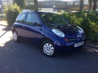 2004 NISSAN MICRA 1 LITRE **LOW MILES ONLY 75000**12 MONTHS MOT**CHEAP RUNNING COSTS**