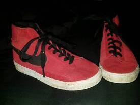Red nike blazers size 13