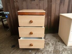 3 Draw Bedroom side set Delivery Available