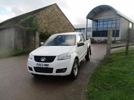 GREAT WALL STEED 2.0 TD S 4X4 DOUBLE CAB 4 WHEEL DRIVE 142 BHP NO (white) 2013