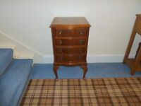 Chest Of Drawers. Antique Reproduction Small Bow Fronted
