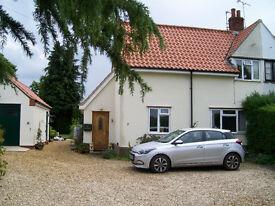 2 Bedroomed Rural House near Aylsham in North Norfolk