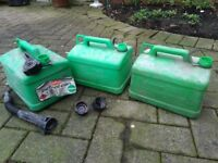 5 Petrol Cans - 5 L (5L, 5 Litre)