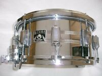 """Tama Imperial star seamless steel snare drum - '80s - 14 x 6 1/2"""" - Mongrel- Kingbeat strainer"""