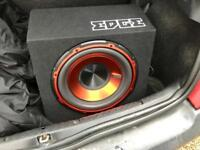 """Edge 12"""" subwoofer with built in amp"""