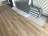 Engineered oak wood flooring planks (3 boxes)