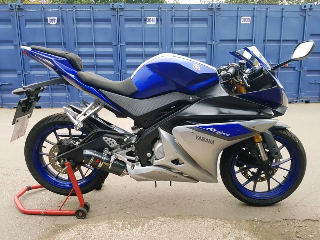 Yamaha yzf r125 abs 2016 500 miles