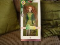 Barbie Festivals of the world irish dance doll pink label.