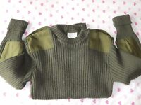 Army Marines Air Force Heavy wool jumper wooly pooly