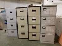 Four used filing cabinets, £10 each or all four for £35